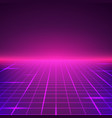 abstract retro landscape in purple colors vector image vector image