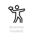 american football sport icons vector image