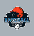 baseball badge logo emblem template baseball vector image vector image