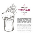 beer glass with beer isolated on vector image vector image