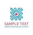 Blue abstract logo template vector image vector image