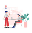 business colleagues working together employees vector image