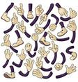 cartoon hands and legs set vector image