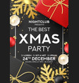 christmas party poster invitation vector image vector image