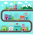City infographics design vector image