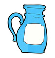 comic cartoon jug vector image vector image