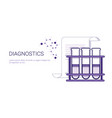 diagnostics medical treatment business concept vector image