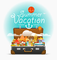 Dirrefent world famous sights travel Summe vector image vector image