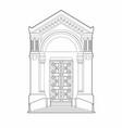 drawing church door vector image vector image