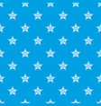 five pointed star pattern seamless blue vector image vector image
