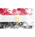 Flag of Egypt with old texture vector image