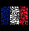 france flag collage of mourning ribbon items vector image