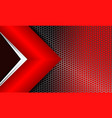 geometric red design with an arrow and a metal vector image vector image