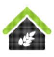 grain warehouse halftone icon vector image vector image