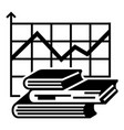 graph finance book icon simple style vector image