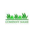 grass logo design template vector image vector image