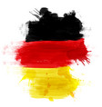 grunge map germany with german flag vector image