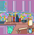 home kitchen room background vector image