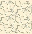 lemon outline citrus seamless background vector image vector image