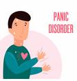 man having panic attack health problem vector image