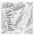 mental health statistics Word Cloud Concept vector image vector image