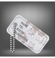 Military Dog Tag vector image vector image