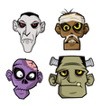 Monsters Head vector image