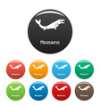 mosasaurus icons set color vector image vector image