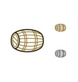 oak wine cask icon vector image vector image