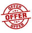 offer round red grunge stamp vector image vector image