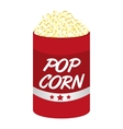pop corn pot isolated icon vector image vector image