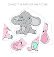Puzzle game for chldren elephant vector image vector image