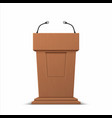 realistic debate stage 3d conference speech vector image vector image