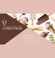 realistic ice cream colorful composition vector image vector image