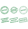 Retro stamps vector image vector image