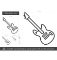 Rock guitar line icon vector image vector image