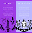 rock party music festival collection of posters vector image vector image