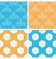 Scheme pattern set colored vector image vector image