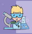 science laboratory research vector image vector image