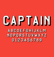 set alphabets font modern design vector image