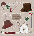 set of vintage stickers for gentleman vector image vector image