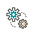 settings web development icon line and fill vector image