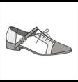 shoes footwear design fashion flat sketch vector image vector image