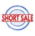 short sale stamp vector image