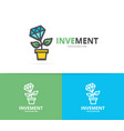 simple plant growth from diamond and money tree vector image vector image