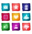 Social media icons watercolor vector image vector image