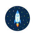 space rocket flying in cosmos and travel vector image vector image