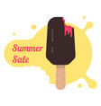 summer sale with popsicle vector image vector image