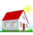 The house stands on the lawn vector image vector image