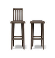 two bar stools vector image vector image